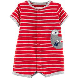 Carters Baby Boys Stripe Sloth Romper