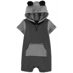 Carters Baby Boys Striped Ears Hooded Romper
