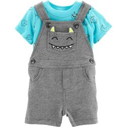 Carters Baby Boys Monster Shortalls Set