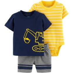 Carters Baby Boys 3-pc. Construction Layette Set