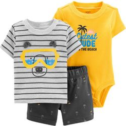 Carters Baby Boys 3-pc. Beach Bear Layette Set