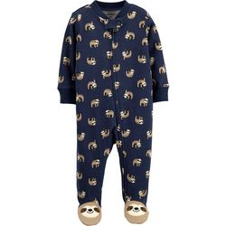 Carters Baby Boys Sloth Print Snug Fit Footie Pajamas