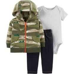 Carters Baby Boys 3-pc. Camo Hoodie Bodysuit Set