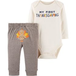 Carters Baby Boys My First Thanksgiving Bodysuit Set