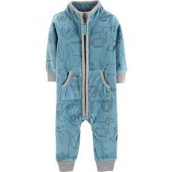 Carters Baby Boys Dog Sketch Fleece Jumpsuit