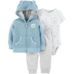 Carters Baby Boys 3-pc. Little Bear Jacket Bodysuit Set
