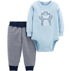 Carters Baby Boys Mom's Little Monster Bodysuit Set
