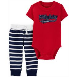 Carters Baby Boys Striped Mighty Handsome Bodysuit Set