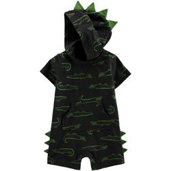 Carters Baby Boys Gator Print Hooded Romper