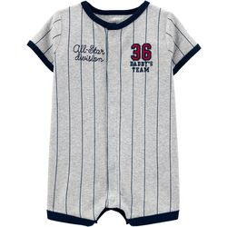 Carters Baby Boys Baseball Snap Up Romper