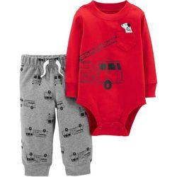 Carters Baby Boys Fire Truck Bodysuit Set