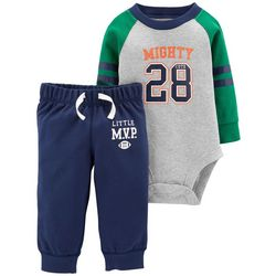 Carters Baby Boys Mighty Little MVP Bodysuit Set