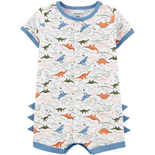 Choose Size Carters Baby Boys Dinosaur Spike Hooded Romper Jumpsuit