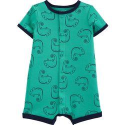 Carters Baby Boys Short Sleeve Chameleon Romper