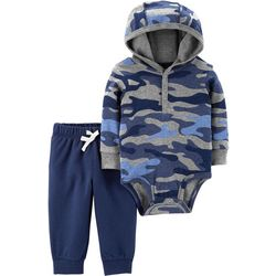 Carters Baby Boys Camouflage Hooded Bodysuit Set