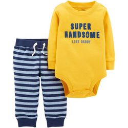 Carters Baby Boys Super Handsome Like Daddy Bodysuit Set