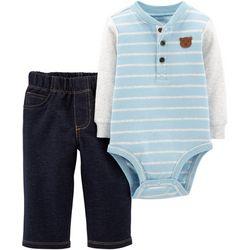 Carters Baby Boys Bear Striped Bodysuit Set