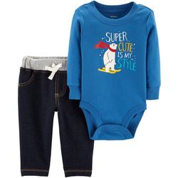 Carters Baby Boys Super Cute Is My Style Bodysuit Set