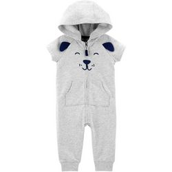 Carters Baby Boys Dog Hooded Jumpsuit