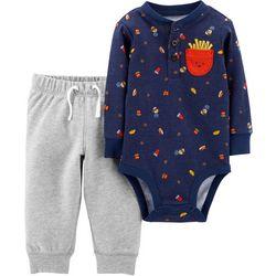 Carters Baby Boys Food Bodysuit Set