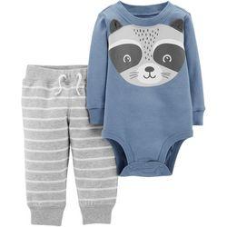 Carters Baby Boys Raccoon Bodysuit Set