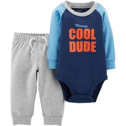 Carters Baby Boys Mommy's Cool Dude Bodysuit Set