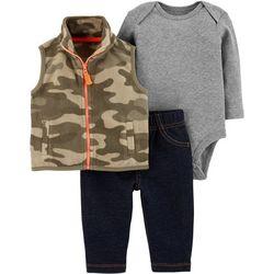 Carters Baby Boys 3-pc. Camo Vest Bodysuit Set