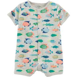 Carters Baby Boys Fish Snap-Up Romper
