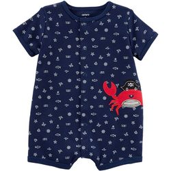 Carters Baby Boys Pirate Crab Snap-Up Romper