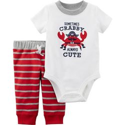 Carters Baby Boys Crabby Bodysuit Set