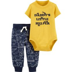 Carters Baby Boys Daddy's Little Helper Bodysuit Set