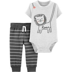 Carters Baby Boys Lion Striped Bodysuit Set