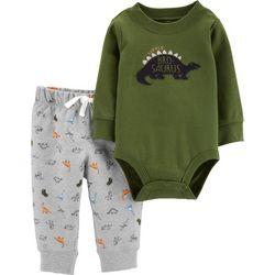 Carters Baby Boys Bro-saurus Dino Bodysuit Set