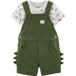 Carters Baby Boys Dinosaur Shortalls Set