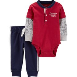 Carters Baby Boys Daddy's Team Sports Bodysuit Set