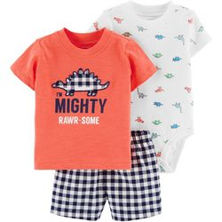 Carters Baby Boys 3-pc. Mighty Rawr-Some Layette Set