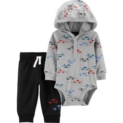 Carters Baby Boys Car Print Hoodie & Pants Set