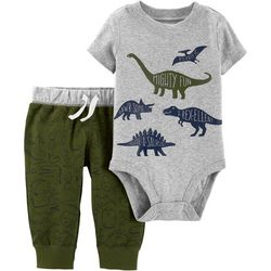Carters Baby Boys Mighty Fun Dino Bodysuit Set