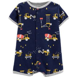 Carters Baby Boys Construction Trucks Romper