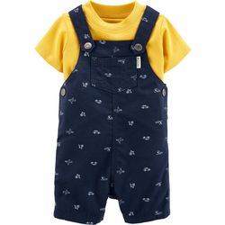 Carters Baby Boys Travel Shortalls Set