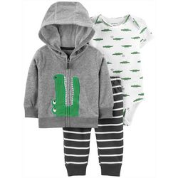 Carters Baby Boys 3-pc. Alligator Jacket Layette Set