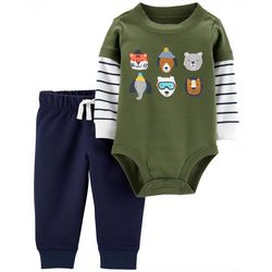 Carters Baby Boys Critters Bodysuit Set