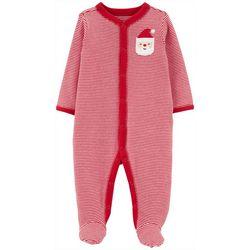 Carters Baby Boys Striped Santa Footie Pajamas
