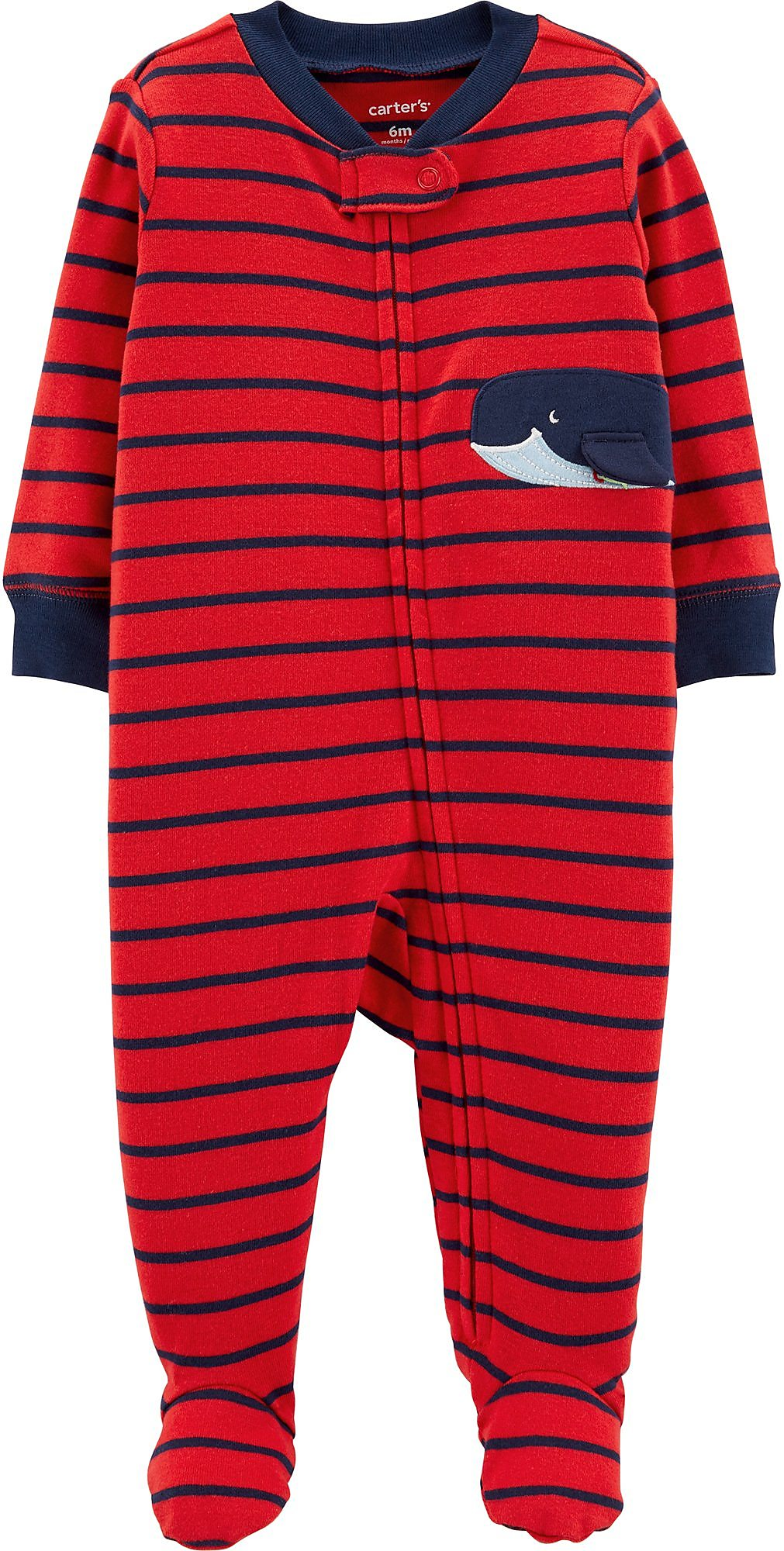 Carters Baby Boys Striped Whale Sleep Play Ebay