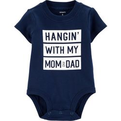 Carters Baby Boys Hangin' With My Mom And Dad Bodysuit