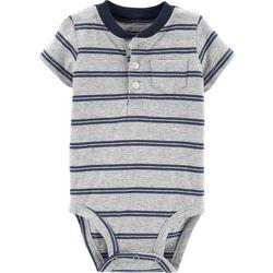 Carters Baby Boys Striped Henley Bodysuit