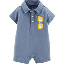 Carters Baby Boys Sunglasses Chest Pocket Polo Romper