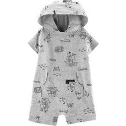 Carters Baby Boys Treasure Map Hooded Romper