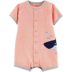 daeddbbf5b1 Carters Baby Boys Stripe Shark Snap-Up Romper