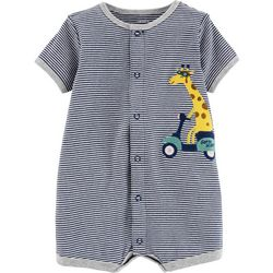 Carters Baby Boys Stripe Giraffe Snap-Up Romper